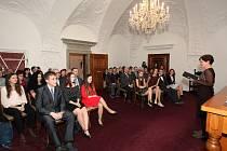 V obřadní síni vyškovské radnice slavnostně předávali Ceny Jana Hona za rok 2019.