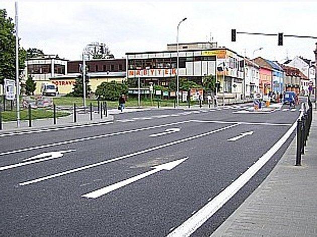 Slavkovská ulice v Bučovicích.