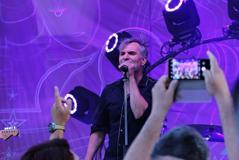 Kapela MIG 21 koncertovala ve Vyškově v pátek 30. července.