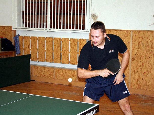 Hráč stolního tenisu Zdeněk Daněk ml.
