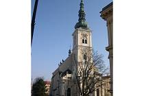 Kostel Nanebevzetí Panny Marie ve Vyškově.