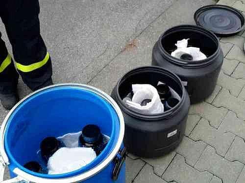 Hasiči ve Vyškově likvidovali chemické látky.