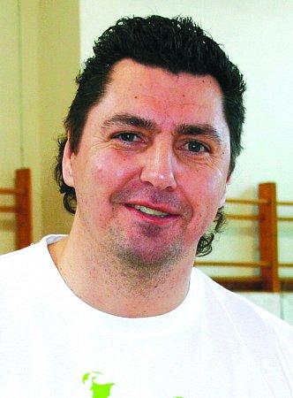 Trenér volejbalistů Sokol Bučovice Zbyněk Čížek.