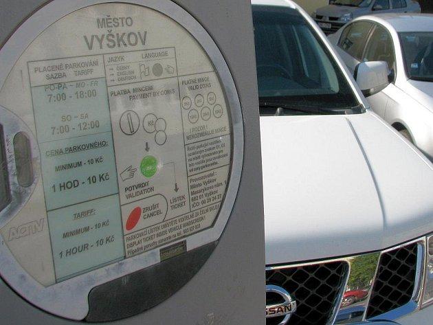Problematické parkování ve Vyškově. Ilustrační fotografie.