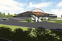 Vizualizace nového zimního stadionu ve Vyškově.