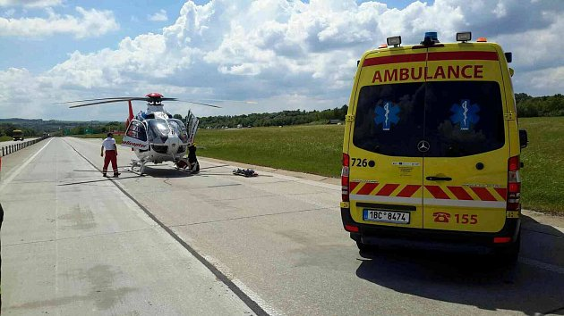 Nehoda na dálnici D46 uVyškova.