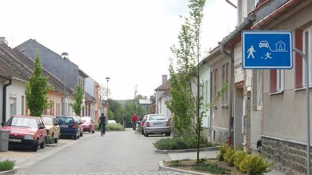 Obytná zóna v Alšově ulici ve Vyškově
