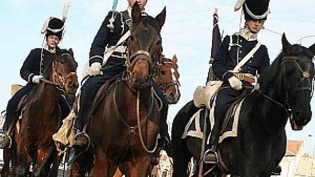 Z pochodu vojáků na Slavkov.