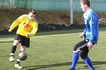 V dohrávce hlavní skupiny zimního turnaje v Líšni remizoval MFK Vyškov s Olympií Ráječko 0:0.
