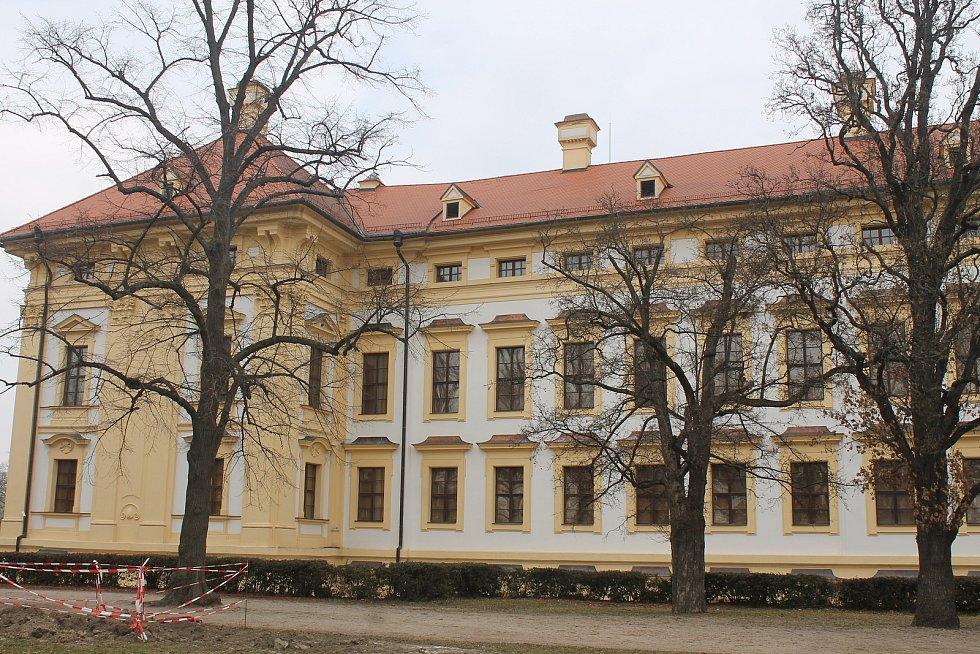 Zámecký park ve Slavkově u Brna.