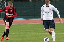 V utkání 18. kola moravskoslezské fotbalové ligy porazil MFK Vyškov SFC Opava B 2:1.
