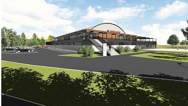 Nový zimní stadion ve Vyškově už získává jasné obrysy.