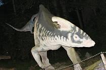 Děti dnes stanování moc neznají, říká ředitel vyškovského zooparku Josef Kachlík. A tak jim ho umožnili v dinoparku.