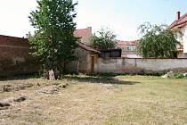 Zahrada renesanční kaple svaté Anny ve Vyškově v Dukelské ulici.