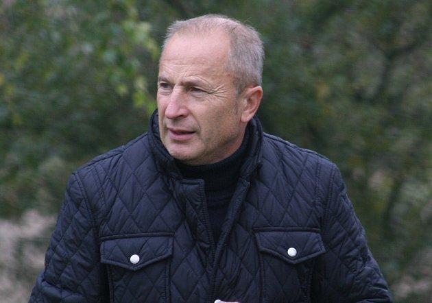 Trenér slavkovských fotbalistů René Lysák