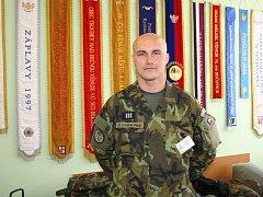 Praporčík Pavel Konvalinka ze 74. lehkého motorizovaného praporu v Bučovicích brzy odjede na další zahraniční misi.