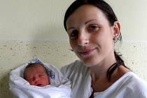 Jan Kaňa s maminkou Kateřinou, 45 cm, 2,535 kg, 20. září 2011, Vyškov.