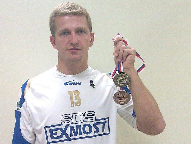 Martin Müller, bezpochyby nejlepší nohejbalista kdysi extraligového Vyškovska, opět válí.