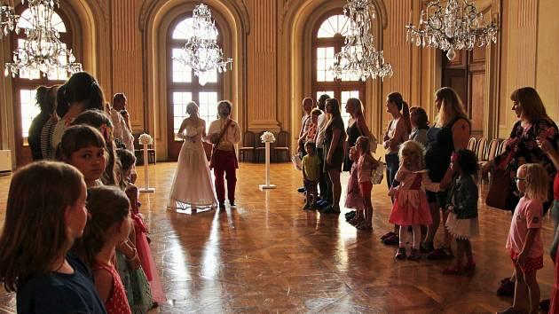 Kostýmované prohlídky na zámku.