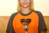 Simona Tydláčková je přebornice okresu ve stolním tenise.