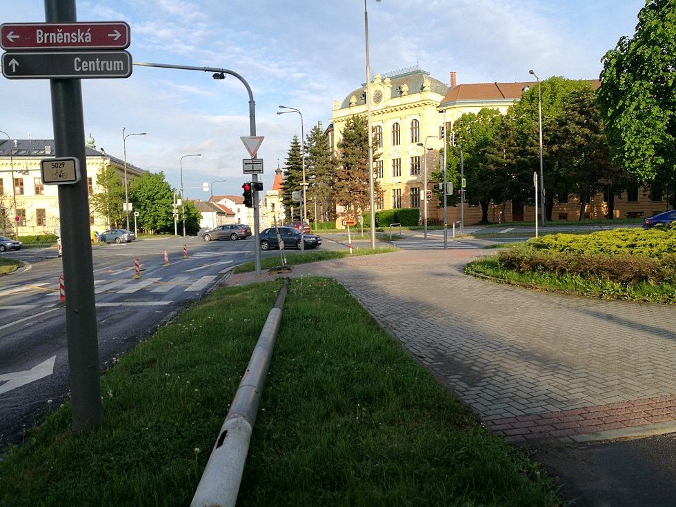 Nádražní ulice ve Vyškově.