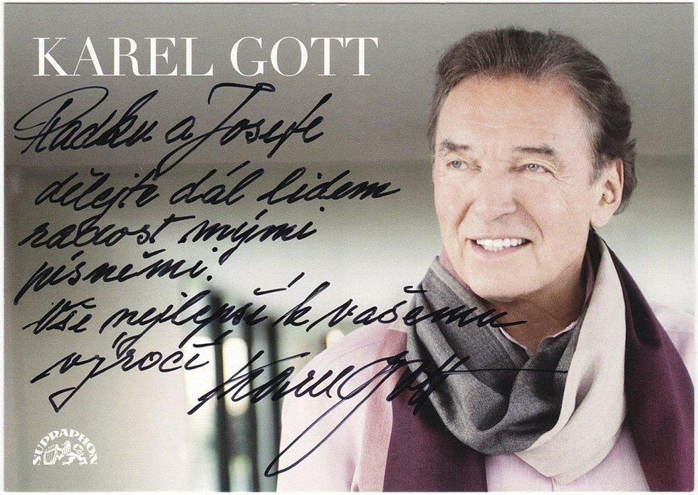 Věnování od Karla Gotta.