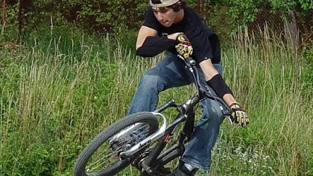 Na premiérovém klání BMX a mountainbiků  v Bučovicích.