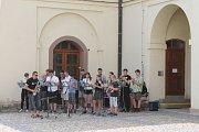 Při akci ZUŠ Open vystoupili studenti v Muzeu Vyškovska.