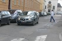 Provoz ve Hřbitovní ulici ve Vyškově