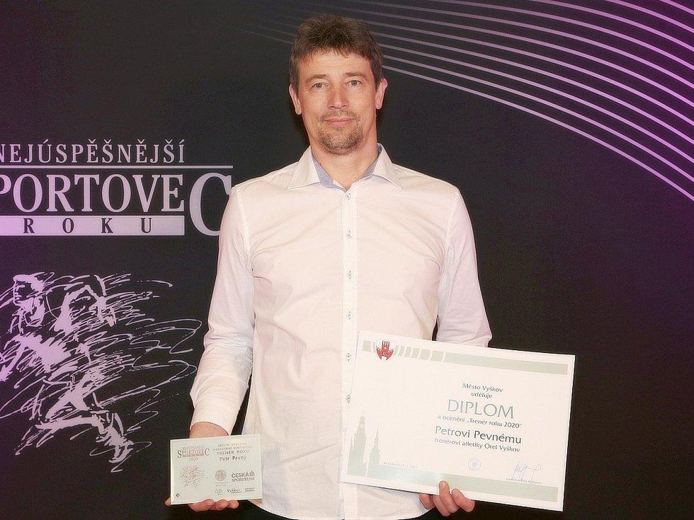 Petr Pevný, úspěšný kuželkář KK Vyškov a jeden z trojice nejlepších trenérů města Vyškova za rok 2020 za Orel Vyškov.