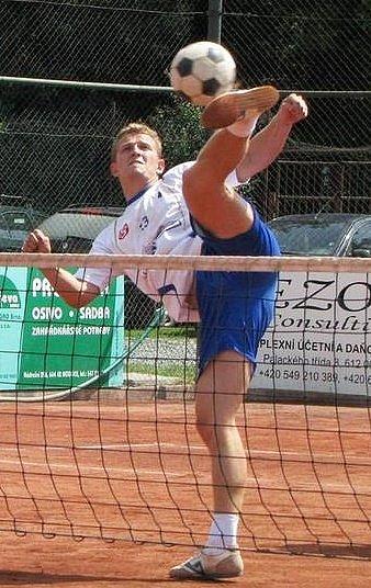 Nohejbalista TJ Sokol EXMOST Modřice Martin Müller. Rodák zVyškova.