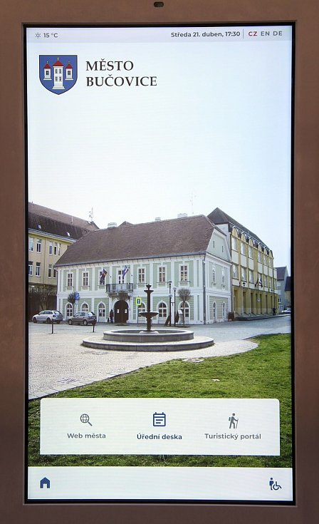 Elektronická úřední deska. Foto: Město Bučovice