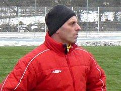 Trenér Petr Gamba.