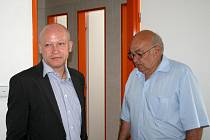První muž českého fotbalu a předseda výkonného výboru Českomoravského fotbalového svazu Ivan Hašek (vlevo).