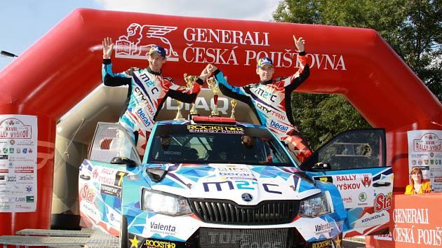Vyškovskou rally ovládli Petr Semerád s Jiřím Hovorkou na voze Škoda Fabia R5.
