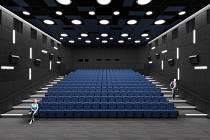 Vizualizace rekonstruovaného sálu kina Sokolský dům.