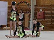 Mistrovství republiky v moderní gymnastice společných skladeb dvojic a trojic ve Vyškově.Foto: Veronika Rybková