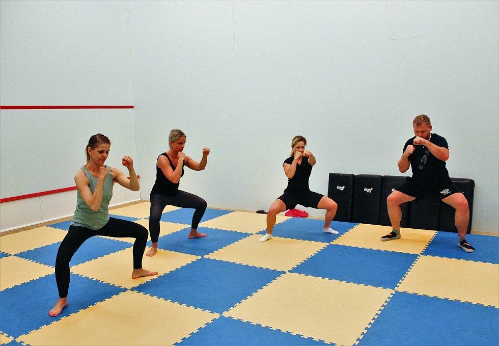 Zájemci využívají i sál pro výuku bojových sportů.