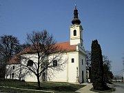 Kostel svatého Petra a Pavla v Milonicích na Vyškovsku.
