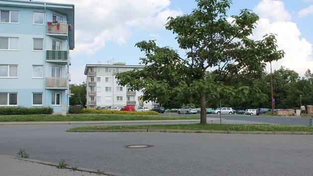 Hybešova ulice ve Vyškově.