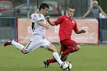 V utkaní moravskoslezské fotbalové divize D prohrál MFK Vyškov v Třebíči 0:1.