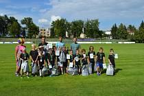 První ročník fotbalového tábora pořádali trenéři  mladší kategorie přípravek na půdě TJ TATRANU Rousínov.