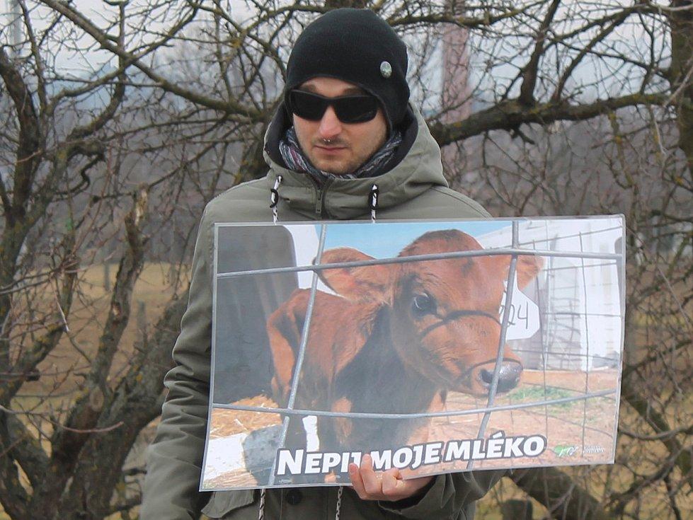 V Bučovicích upozorňovali aktivisté na špatné zacházení se zvířaty.