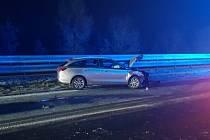 Hromadná nehoda na dálnici D1 u Holubic.