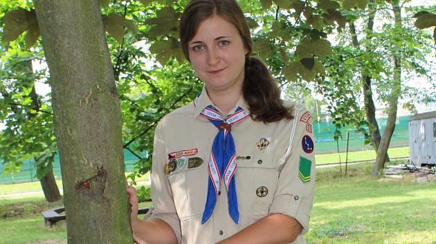 Helena Dvořáková, vedoucí vyškovského dívčího oddílu Kasiopea.