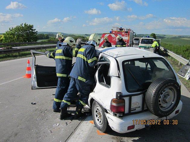 Smrtelná dopravní nehoda u Vyškova.
