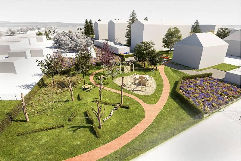 Vizualizace budoucí podoby lokality.