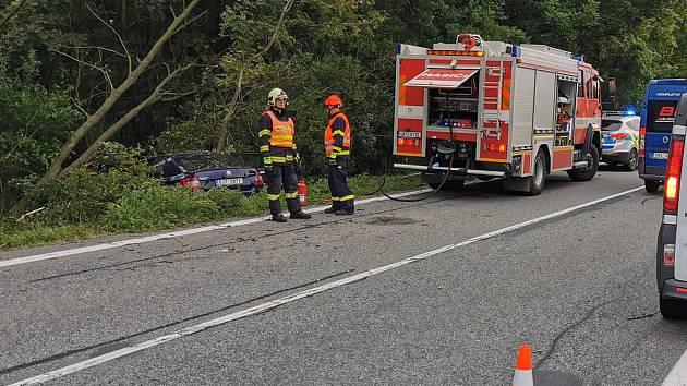 Středeční nehoda u Nesovic.