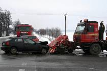 Nehoda mezi Lulčí a Zvonovicemi.