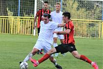 V 1. kole MOL Cupu vyhrál MFK Vyškov (světlé dresy)vv Rohatci nad Hodonínem 2:1.